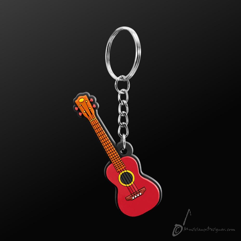 Instrument Keyring Ukulele Brown