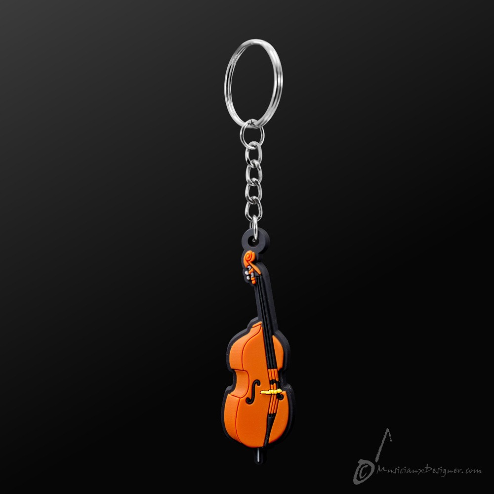 Instrument Keyring Double Bass