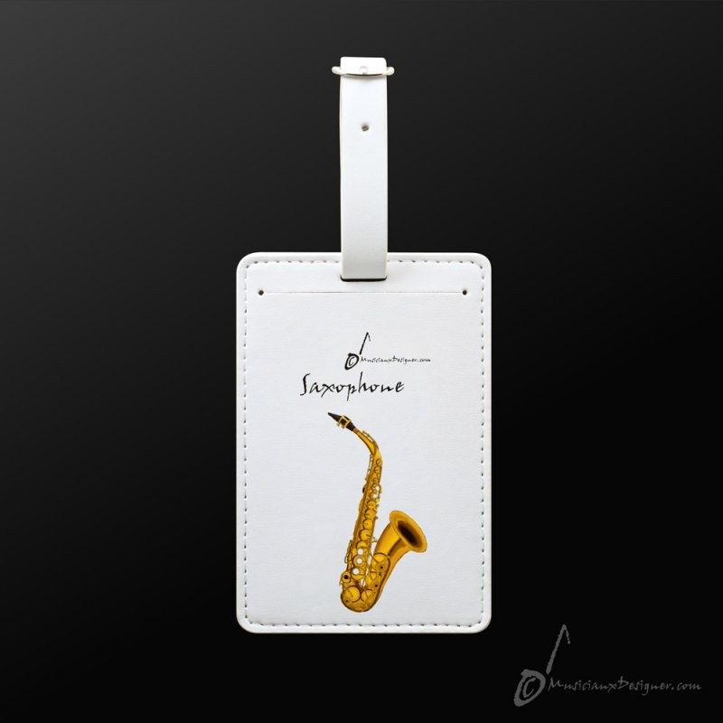 Luggage Tag Saxophone