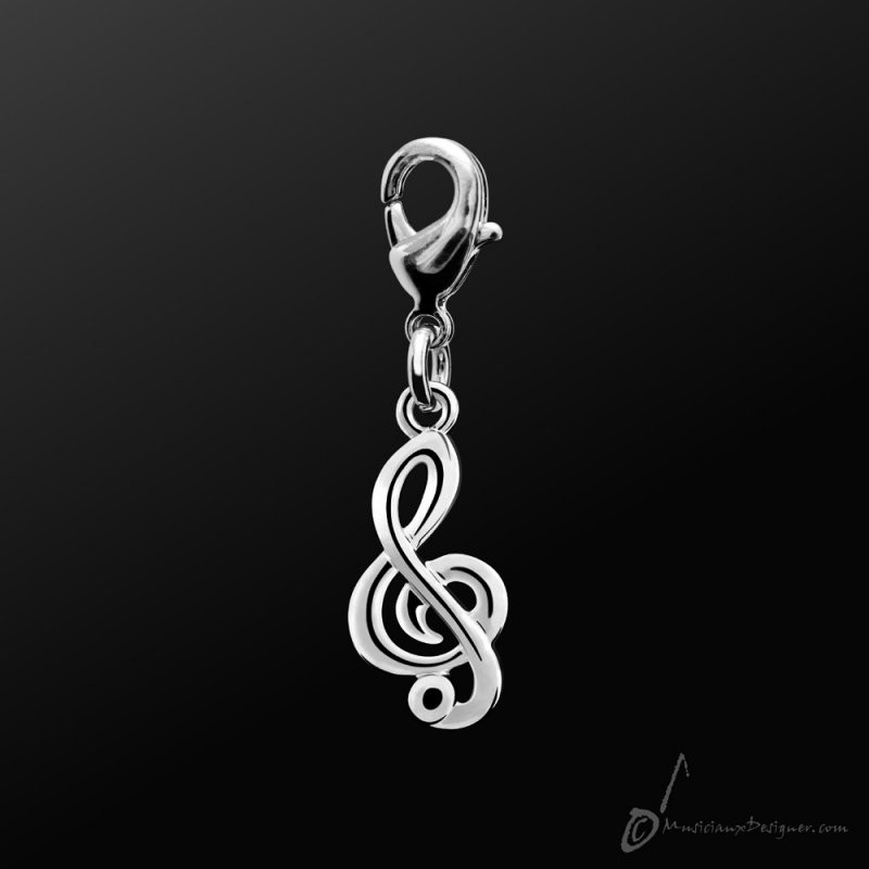 Metal Charm Treble Clef