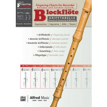 Grifftabelle für Blockflöte [Fingering Charts for Recorder]