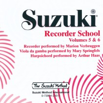 Suzuki Recorder School (Soprano and Alto Recorder) CD, Volume 5 & 6