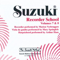 Suzuki Recorder School (Soprano and Alto Recorder) CD, Volume 7 & 8