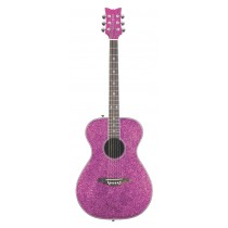 Pixie Acoustic Pink Sparkle Left Handed