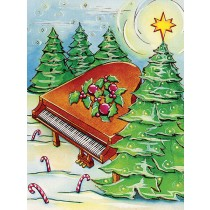 Greeting Cards: Piano and Trees (Pack of 12)
