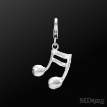 Sterling Silver Charm Semiquaver