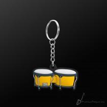 Instrument Keyring Bongo Yellow