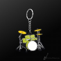 Instrument Keyring Drum Set Green
