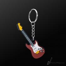 Instrument Keyring Elec/Guitar Brown