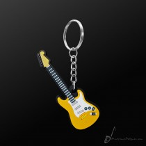 Instrument Keyring Elec/Guitar Yellow