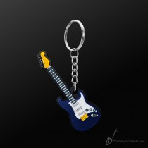 Instrument Keyring Electric Guitar Blue