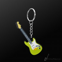 Instrument Keyring Electric Guitar Green