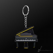 Instrument Keyring Grand Piano Black