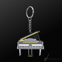 Instrument Keyring Grand Piano White
