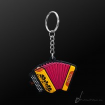 Instrument Keyring Button Accordion