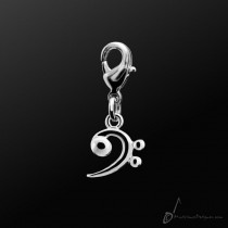 Metal Charm Bass Clef