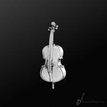 Cello Pin Silver
