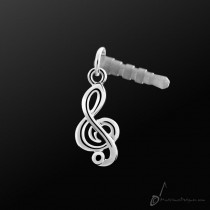 Earphone Plug Quaver Silver