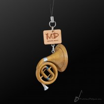 Wooden Strap French Horn 3D