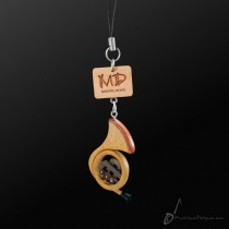 Wooden Strap French Horn 2D