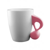 Music Mug with Quaver Handle (pink)